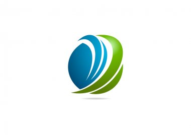 Green finance logo symbol design vector