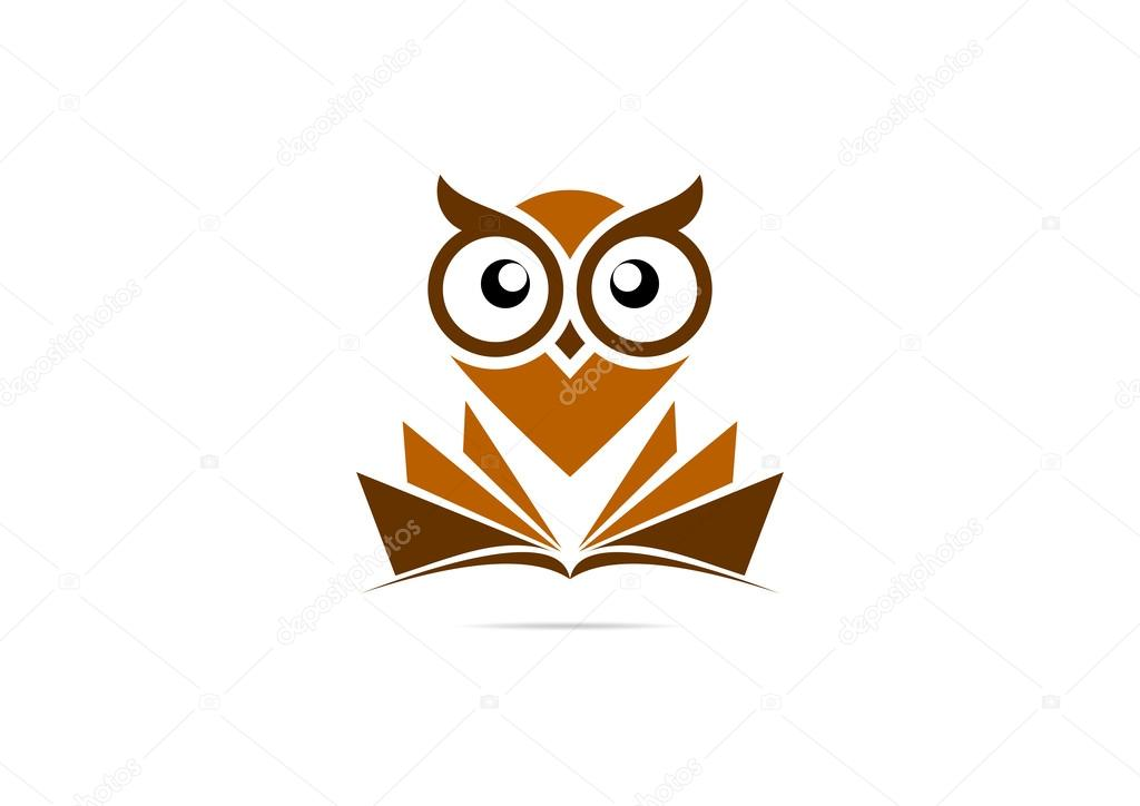 Brown owl vector logo design