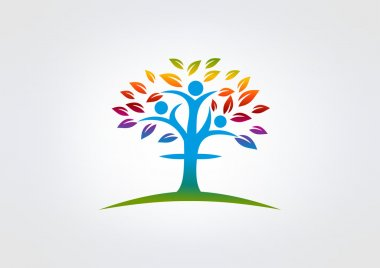 Cross religious human nature logo