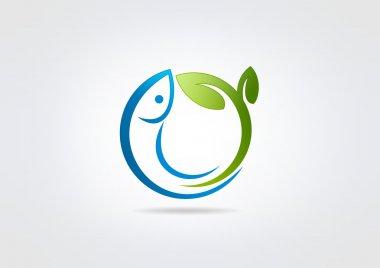 """Картина, постер, плакат, фотообои """"дизайн логотипа свежей рыбы"""", артикул 61667615"""