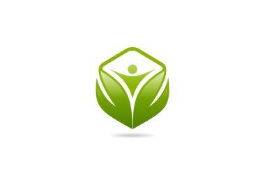 Body cube health logo