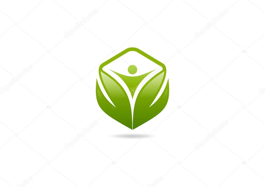 Body cube health logo