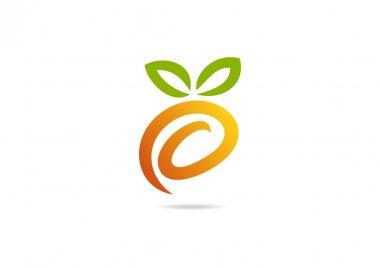 Funny fresh fruit logo