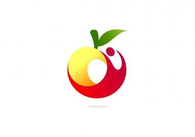 Apple healthy body logo