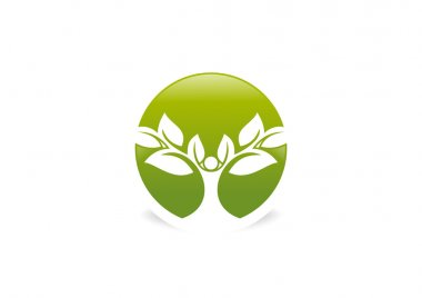 Tree human body wellness Logo