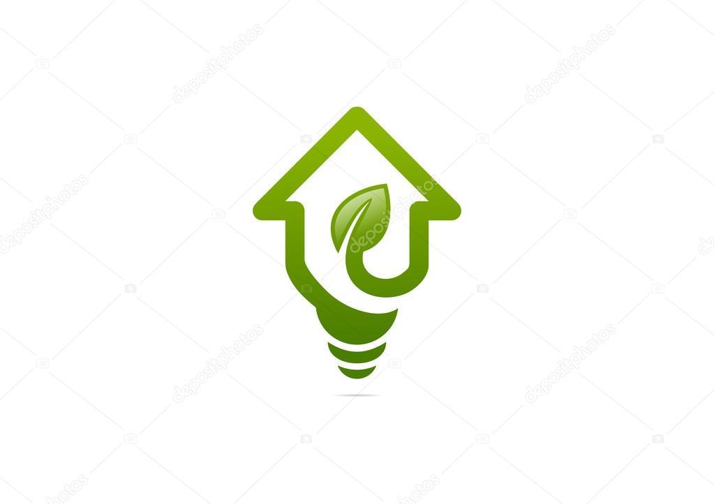 Green Home Idea Solution Logo Stock Vector Breee 62464581