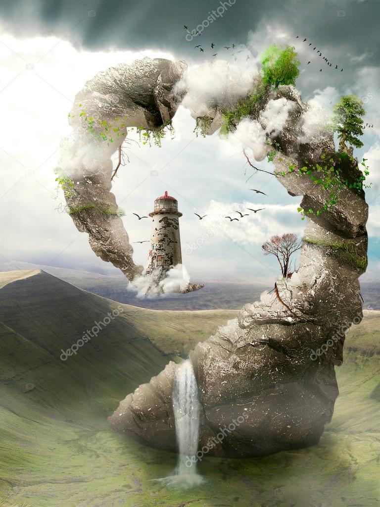 Dreamland, magical bridge to the lighthouse