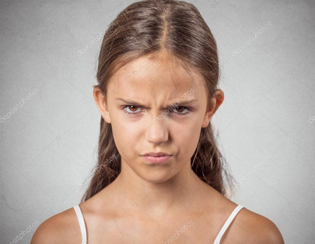 Headshot of angry teenager