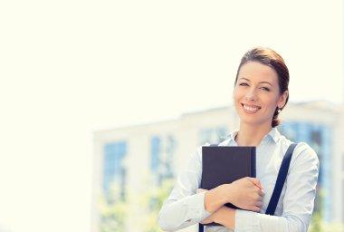 Portrait, young professional, beautiful confident businesswoman
