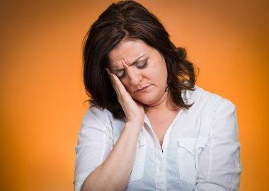Depressed, gloomy woman