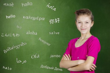 Children learn foreign languages