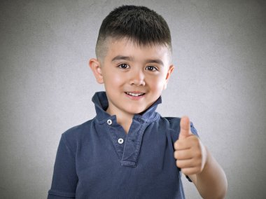 Child thumbs up