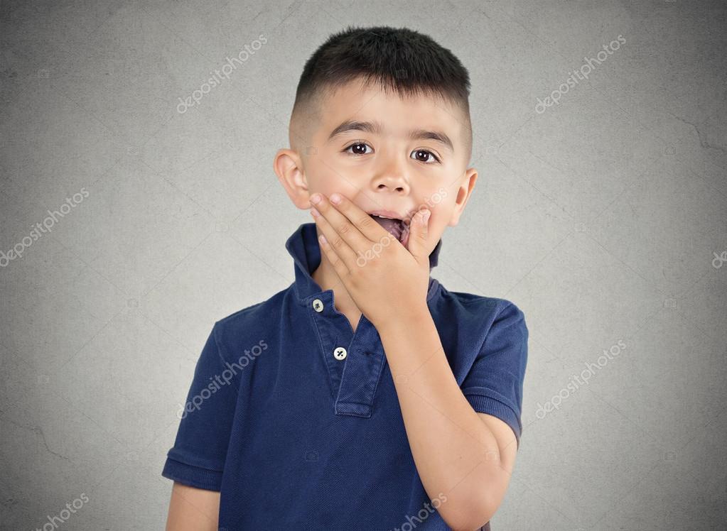 Child surprised.