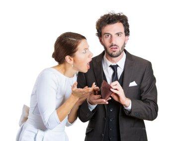 Broke bankrupt young couple