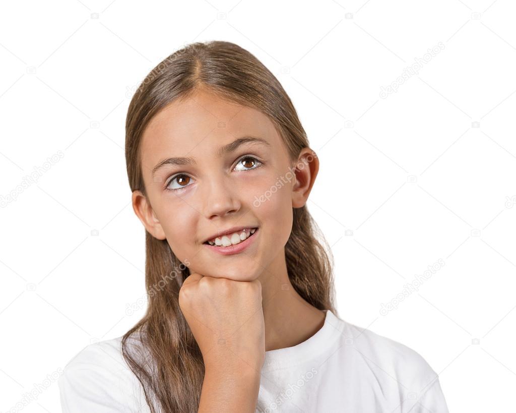 headshot thinking, daydreaming child