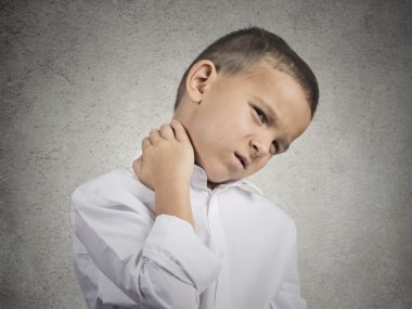 Boy with neck pain