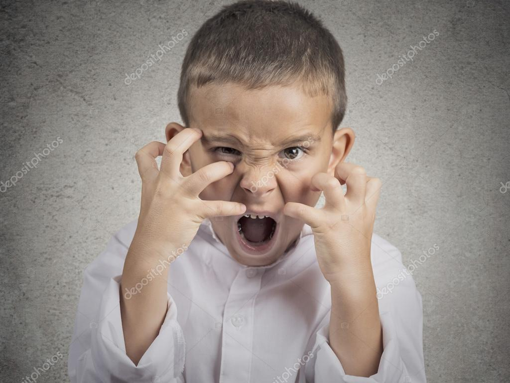 Angry child, Boy Screaming hysterical