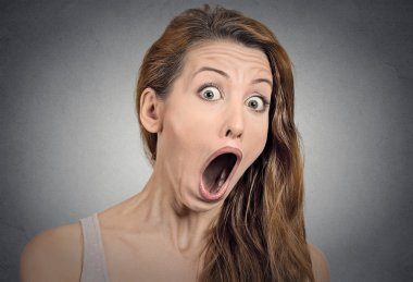 Surprise astonished woman