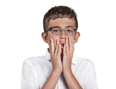 overwhelmed teenager boy worried