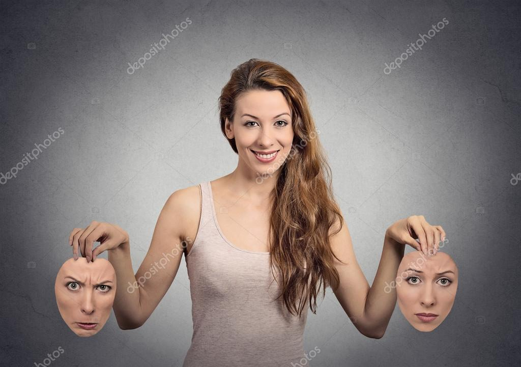 Girl holds two face masks