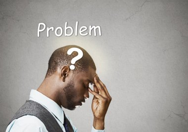 business man thinking solving problem