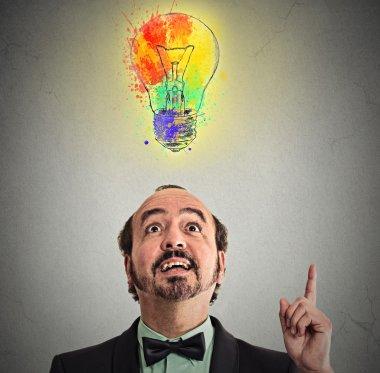 Creative business idea with colorful lightbulb