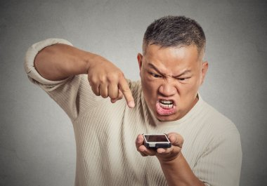 man, guy pissed off employee screaming while on mobile phone