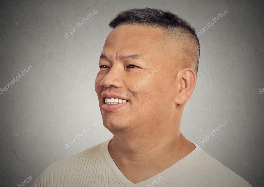 Portrait happy smiling middle aged man