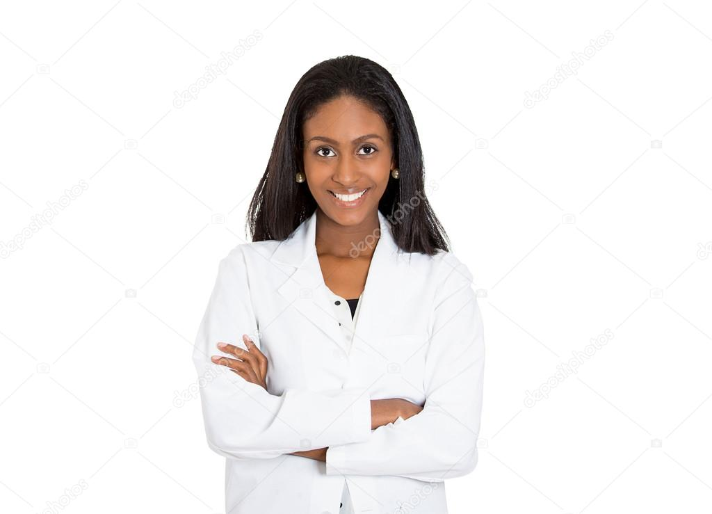 friendly, smiling confident female healthcare professional
