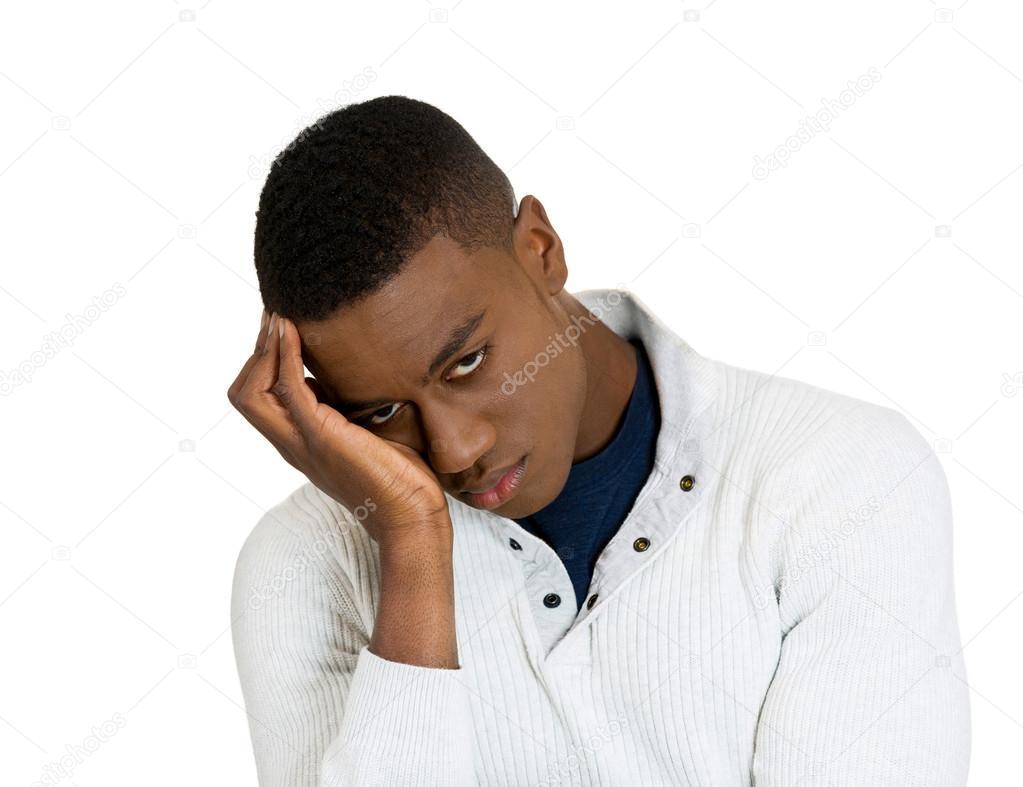 Depressed sad young man