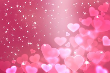 Wallpaper  to Valentine's Day with pink hearts