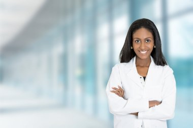 confident African American female doctor medical professional