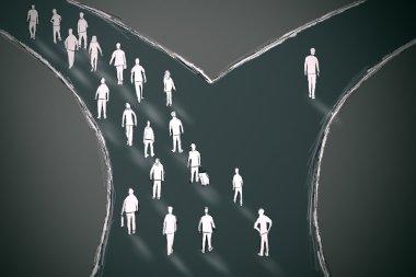 On the crossroads people choosing their pathway