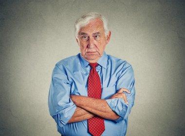 Angry grumpy pissed off senior mature man
