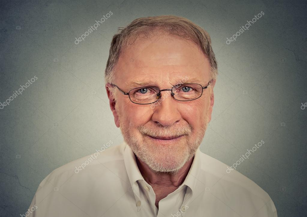 Portrait of happy Old Man with glasses
