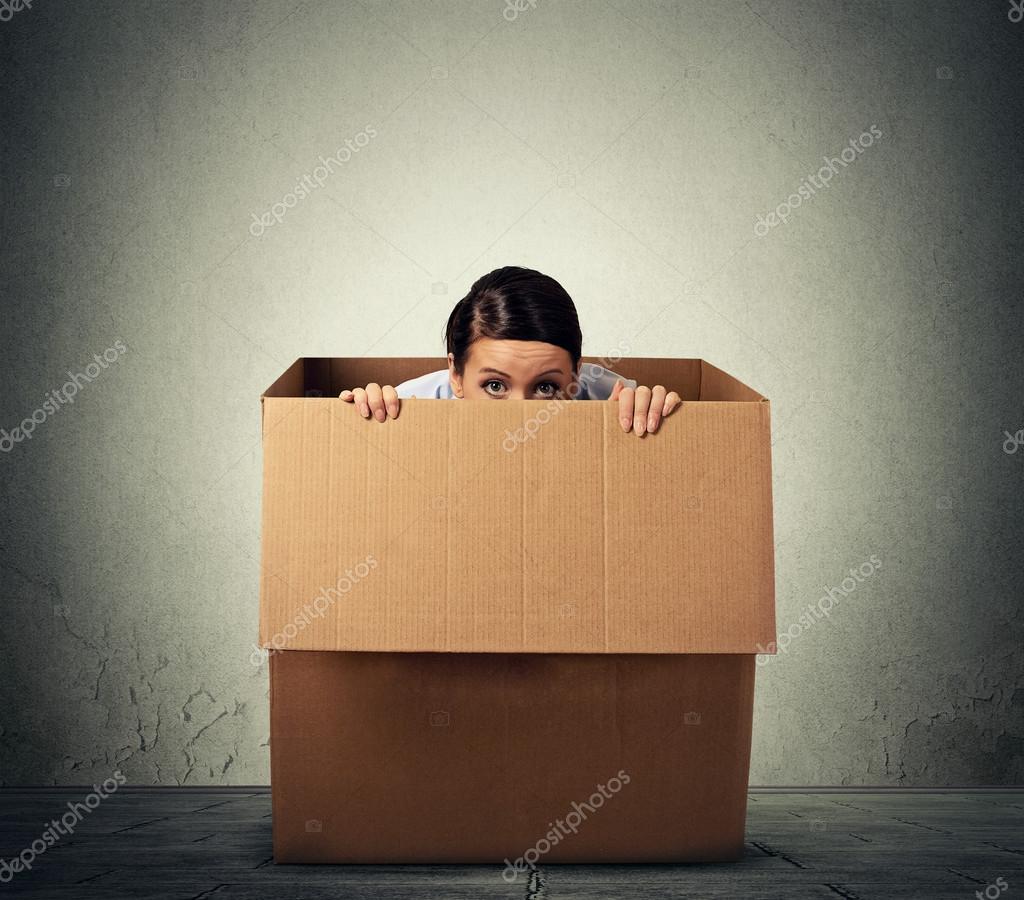 Box mit deckel pappe weib