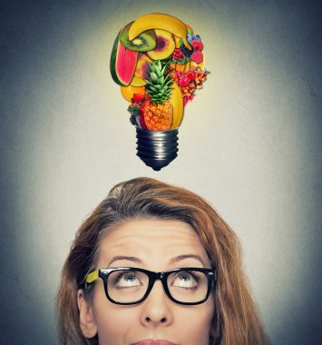 Eating healthy idea and diet tips concept