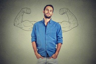Strong man, self confident young entrepreneur