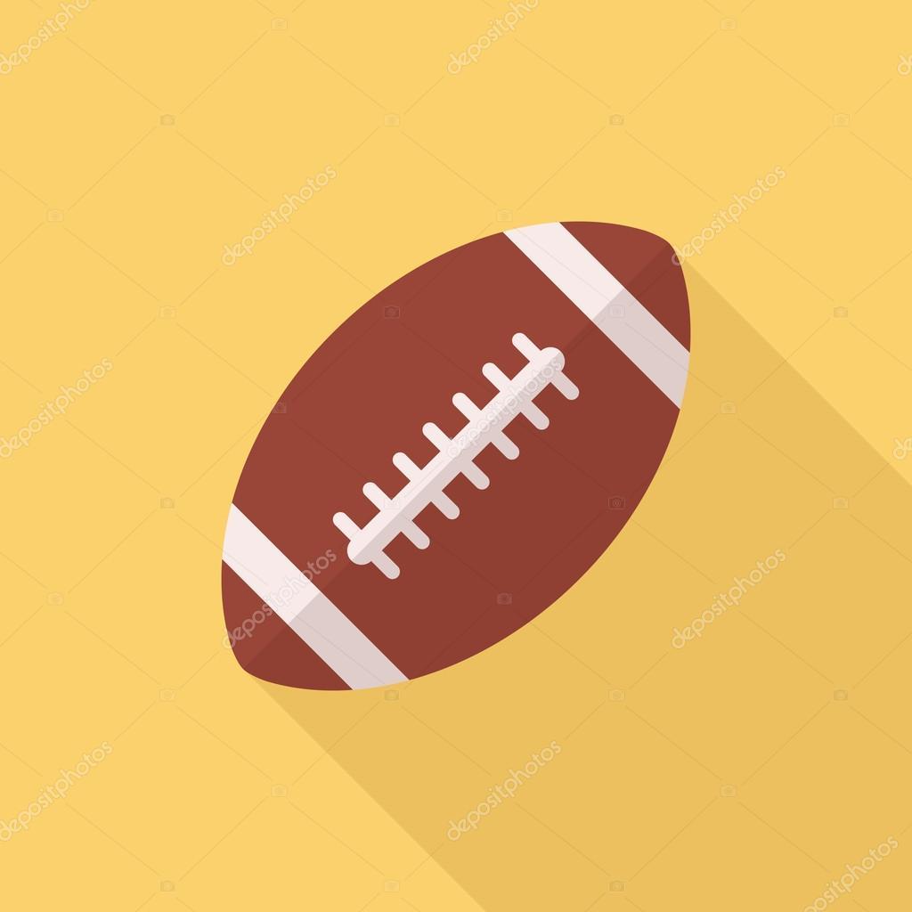 american football ball icon modern minimal flat design style rugby