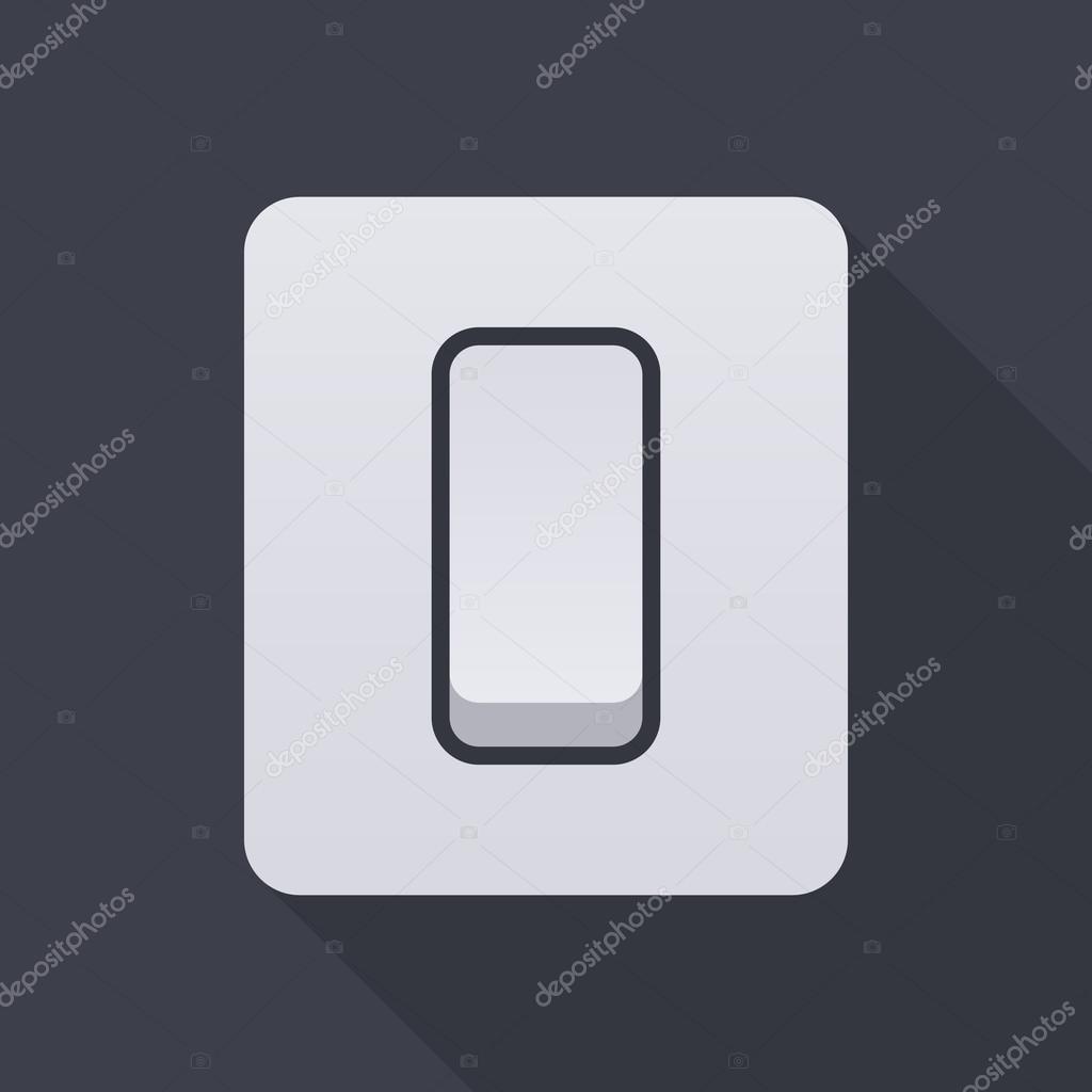 Elektrisches Licht Schalter Symbol, moderne minimal flache Design ...