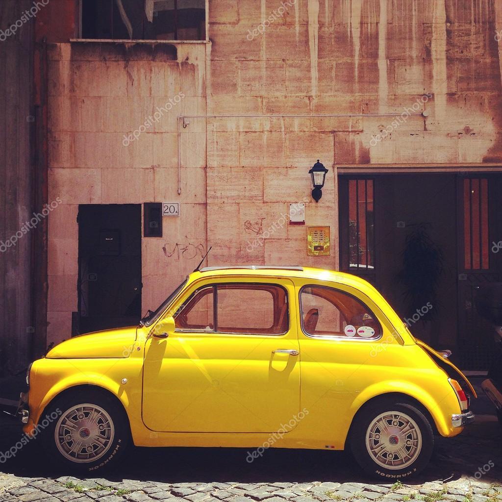 Retro Fiat 500 car