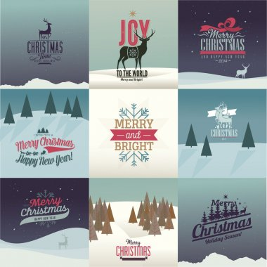 Vintage styled Christmas Cards