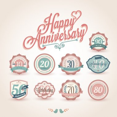 Happy anniversary premium quality labels