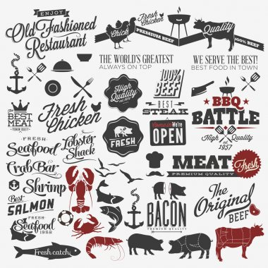Huge set of food design elements