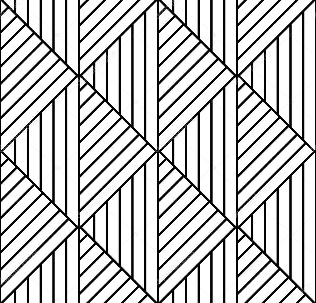 Colour Line Art Design : Seamless geometric pattern in op art design vector