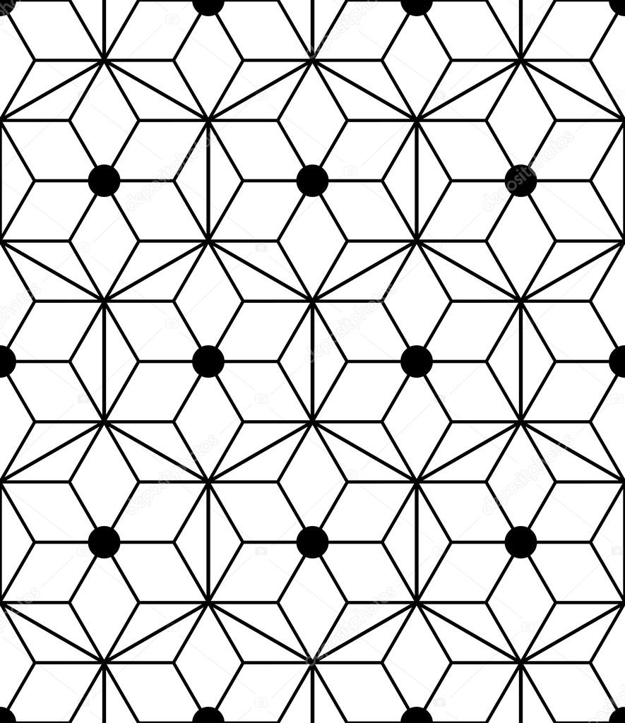 seamless geometric pattern with triangles and diamonds