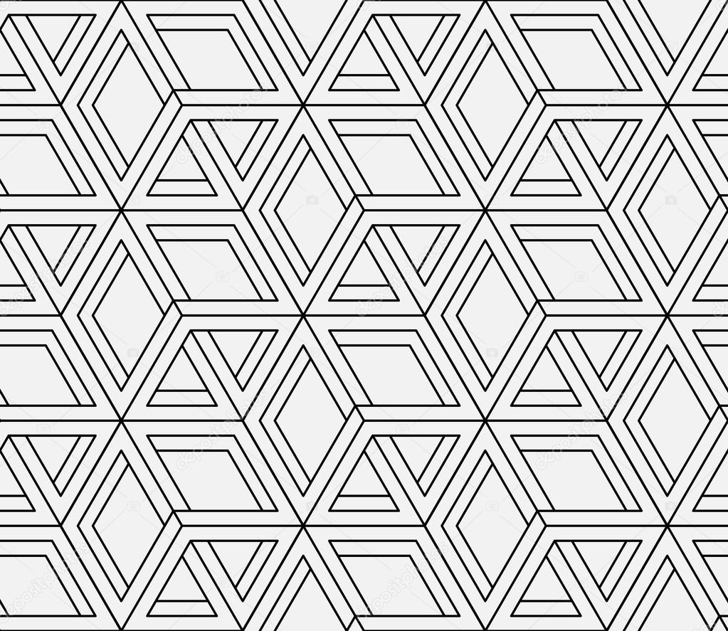 Seamless geometric pattern in op art design vector art Geometric patterns