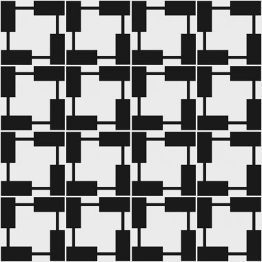 Seamless geometric pattern in op art design. Vector illustration