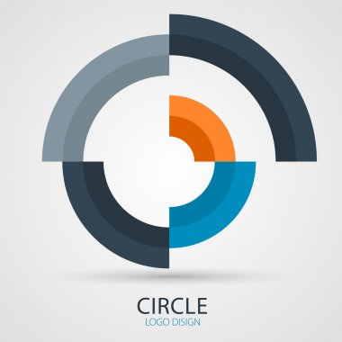 Vector circle company logo design, business symbol concept