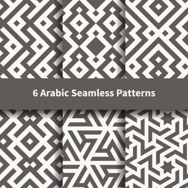 Set of arabic geometric texture.